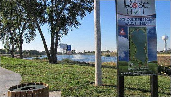 Rose Hill School Street Pond - Walk and Bike path