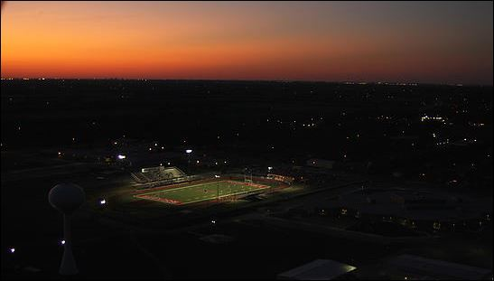 Stadium at dusk